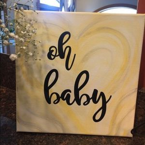 Oh baby canvas art